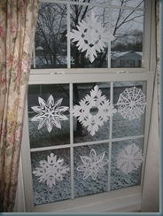 snowflakes dark outside