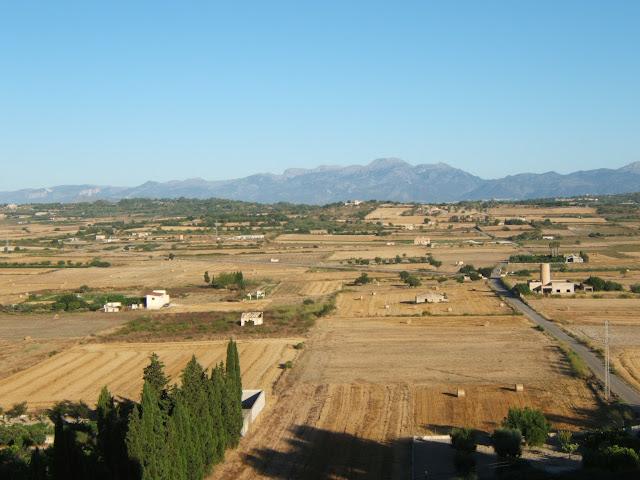 Blick von der Kirche in Santa Margalida