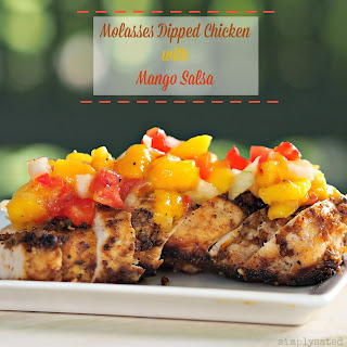 Molasses Dipped Chicken with Mango Salsa