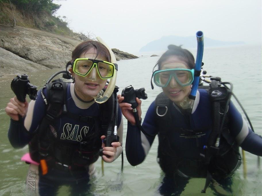 瀬戸内海で体験ダイビング