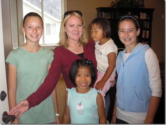 Hillary, Kim, Pearl, Grace & Madison