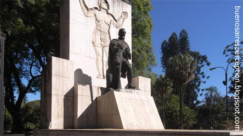 "The ""Monumento a Pedro de Mendoza"" at the ""Parque Lezama"" in San Telmo, Buenos Aires"