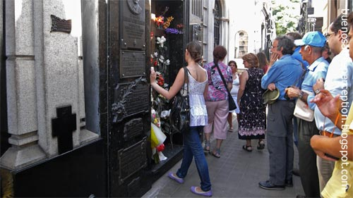 Queue in Front of Evita's Mausoleum in Recoleta, Buenos Aires, Argentina