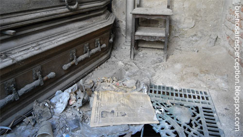 Ramshackle tombs in the Recoleta Cemetery of Buenos Aires, Argentina