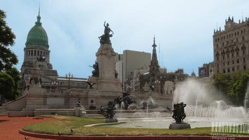 Plaza de los Dos Congresos in Buenos Aires, Argentina
