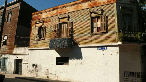 Charming Rusty House in Zolezzi Street in the La Boca neighborhood in Buenos Aires, Argentina