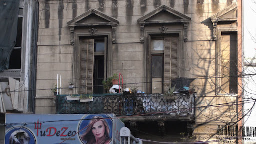 Old Facade Giving the Answer to the 2 1/2 Room Apartment Conundrum in Once Buenos Aires, Argentina