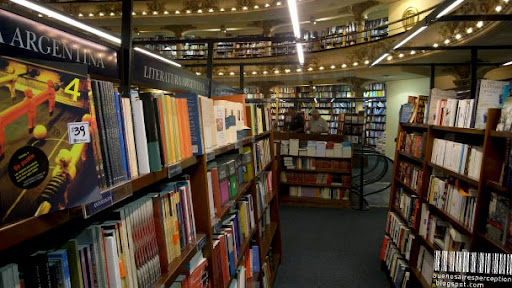 Book Shelves in El Ateneo Bookstore in Buenos Aires, Argentina