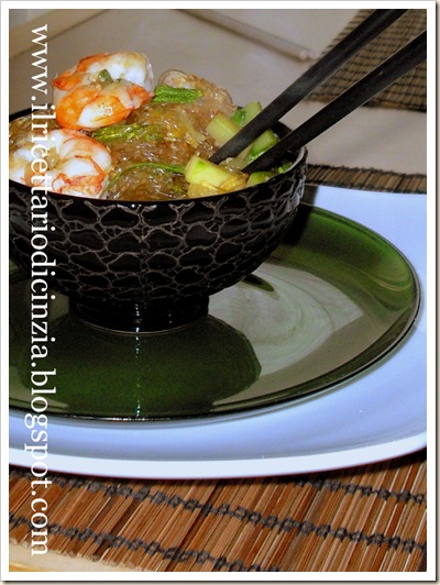 Spaghetti di soia ai gamberetti