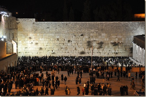 Wailing Wall on Shabbat