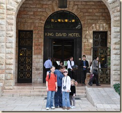 King David Hotel--right across the street from YMCA