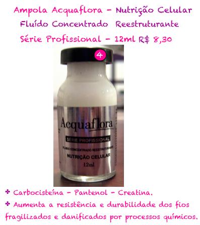 ampola de nutrição celular acquaflora
