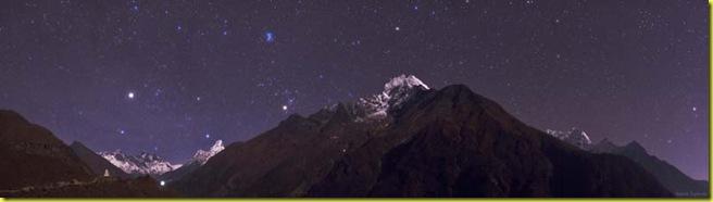 Cielo stellato Himalaya