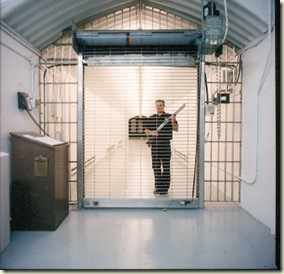 Guard at the Perpetual Storage vault