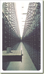 Microfilm storage cabinets in the GMRV