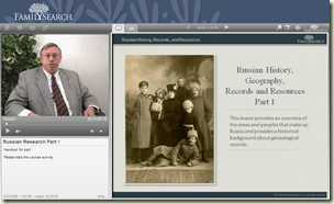 FHL Russian Research class on FamilySearch.org