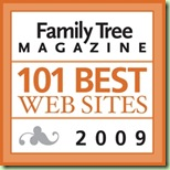 Ancestry Insider is one of the 101 Best Web Sites 2009