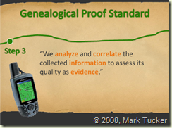Genealogy Proof Standard Step 3