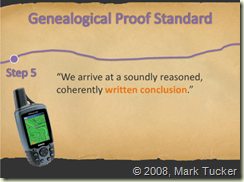 Genealogical Proof Standard Step 5