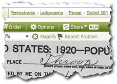 Ancestry.com has not totally fixed the misspelling of Throop township