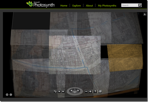 Photosynth of David Rencher's map of Drogheda, Ireland