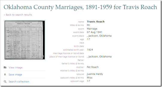 The index states that these two were married