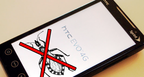 bug squashed e1275916188432 HTC Sprint 4G EVO gets first OTA update to fix the problem on microSD