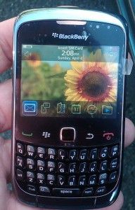 Photo appearance BlackBerry 9300
