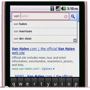 Google Instant, is currently available in the iPhone and Android