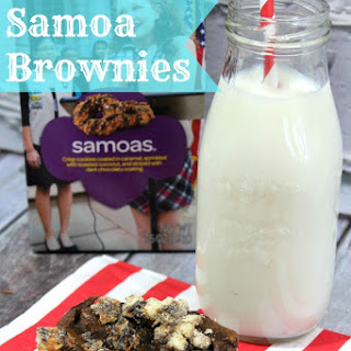 Samoa Girl Scout Cookie Brownies