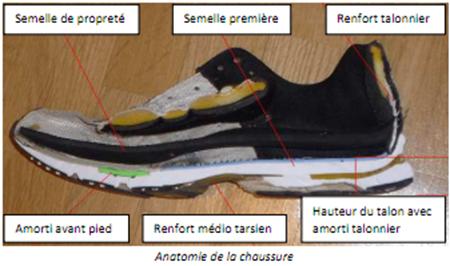 Anatomie de la chaussure