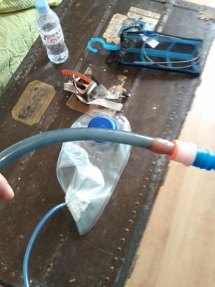 Un tuyaux bien crade après un mois sans utilisation
