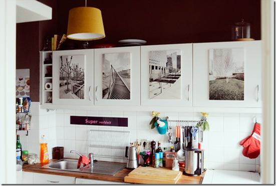 Casa de Valentina - fotos nas portas - via Home Seweet Home
