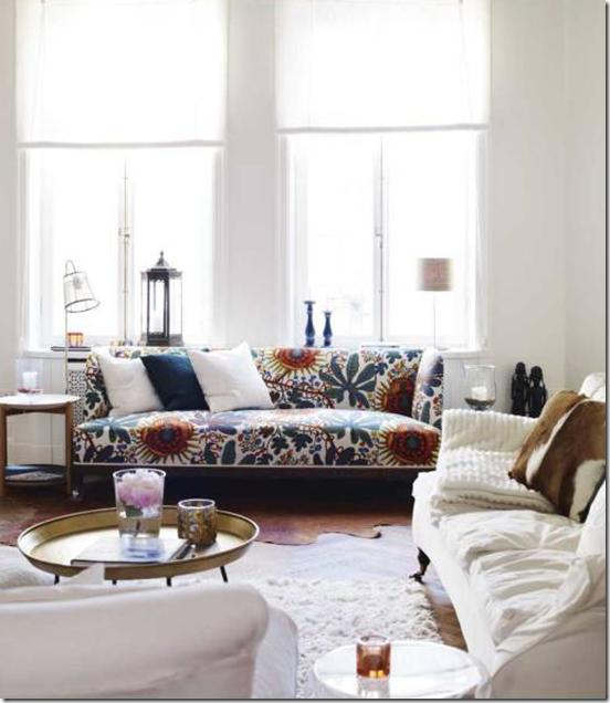 Casa de Valentina - via Apartment Therapy - sofá estampado