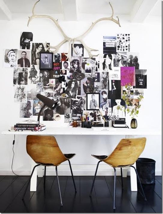 Casa de Valentina - via Lojas KD Blog - escrivaninha de trabalho com mood bard