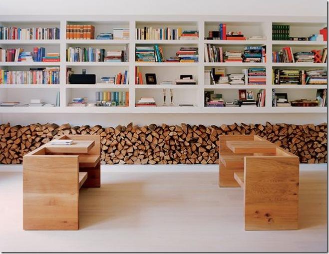 estante repleta de livros
