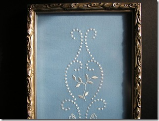 Embroidery Art Framed Candlewicking Looks Yintage - $60