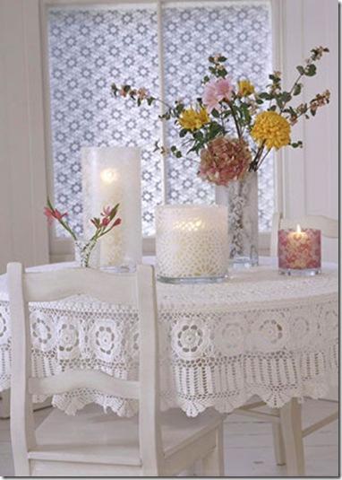 Tricô na mesa - foto publicada na revista Country Home