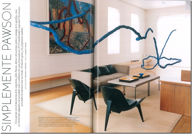 Mesa pufe de centro - Foto Architectural Digest