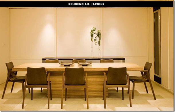 Sala de jantar fechada por Silvana Mattar