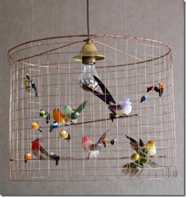 Eu quero!!! Pássaros no lustre