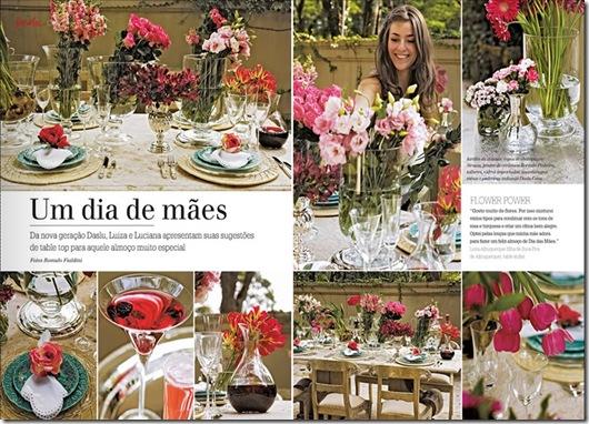 Casa de Valentina - Revista Daslu - mesa colorida e arranjos fáceis
