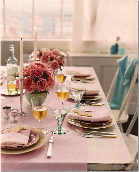 Casa de Valentina - via Martha Stewart - arranjos com rosas
