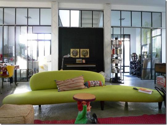 Casa de Valentina - sofá orgânico verde limão
