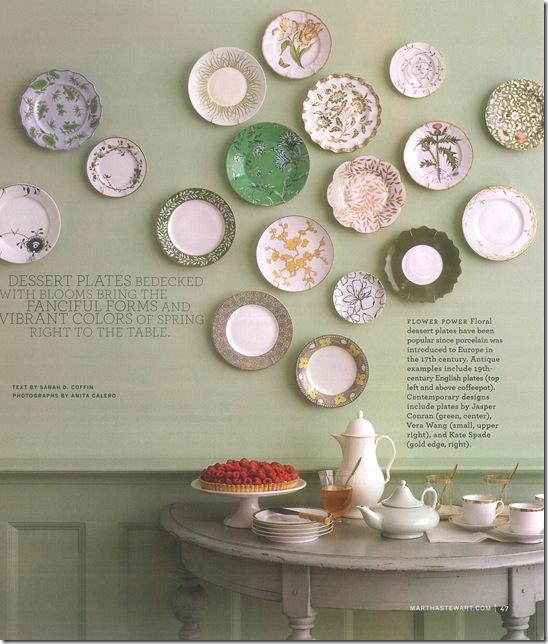 Casa de Valentina - via Martha Stewart - pratos