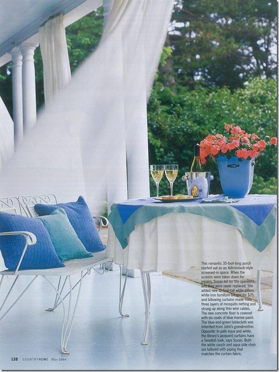 Casa de Valentina - via Country Home - adequando toalhas quadradas a mesas redondas