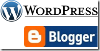 Blogger Wordpress Logo