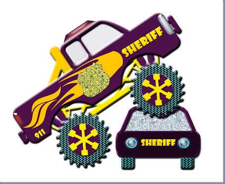 Connor's car crushing police monster truck copy