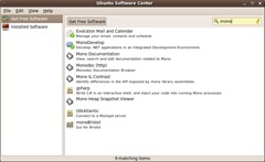 Ubuntu Software Center-MonoDevelop