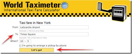 quanto costa prendere taxi new york